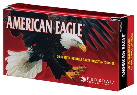 Federal AE65GDL1 American Eagle 6.5mm Grendel 123 GR Open Tip Match 20 Bx/ 25 Cs