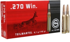 282240020 Teilmantel Geco  270 Winchester 140 GR Soft Point 20 Bx/10 Cs