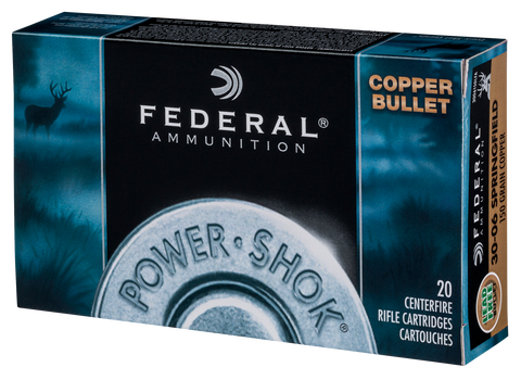 Federal 24385LFA Power-Shok 243 Winchester 85 GR Copper 20 Bx/ 10 Cs