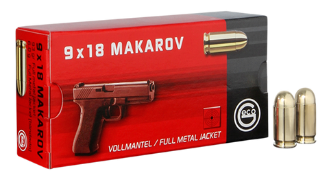 294540050 Pistol Geco  9mm Makarov 95 GR Full Metal Jacket 50 Bx/ 20 Cs