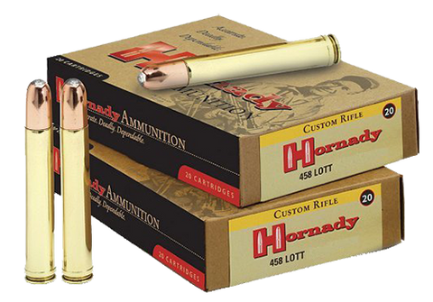 Hornady 8262 DGS 458 LOTT 500GR Dangerous Game Solid 20 Box/6 Case
