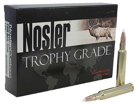 Nosler 48545 Trophy 280Rem 140GR AccuBond 20Bx/10Cs Brass