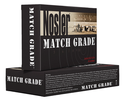 Nosler 43455 Match Grade Rifle 6.5 Creedmoor Hollow Point 140 GR 20Box/10Case