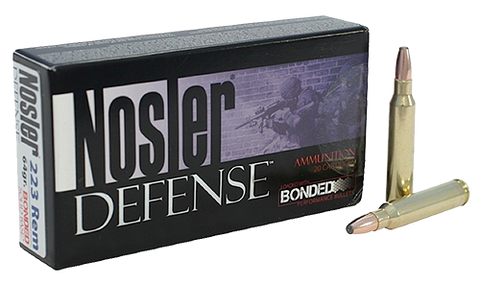 Nosler 39674 Defense Rifle 223 Rem/5.56 NATO Bonded Solid Base 64GR 20Box/20Case