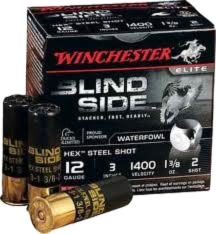 "Winchester Ammo SBS1232VP Blindside 12 Gauge 3"" 1-3/8 oz 2 Shot 200 Bx/ 1 Cs - 200 Rounds"