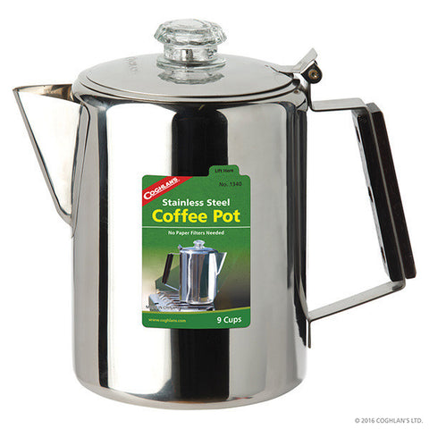 Coghlan Stainless Steel Coffee Pot 9-Cup