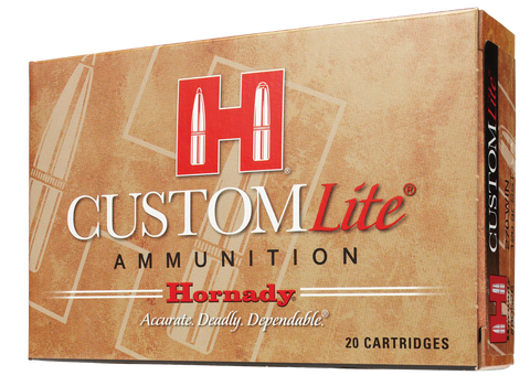 Hornady 80596 Custom Lite 7mm Remington Magnum 139 GR SST 20 Bx/ 10 Cs