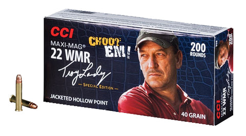 CCI 958 22 Winchester Magnum Maxi-Mag Swamp People JHP 40 GR 200Box/10Case - 200 Rounds