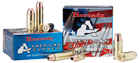 Hornady 90904 American Gunner 45 Automatic Colt Pistol (ACP) 185 GR XTP Hollow Point 20 Bx/ 10 Cs