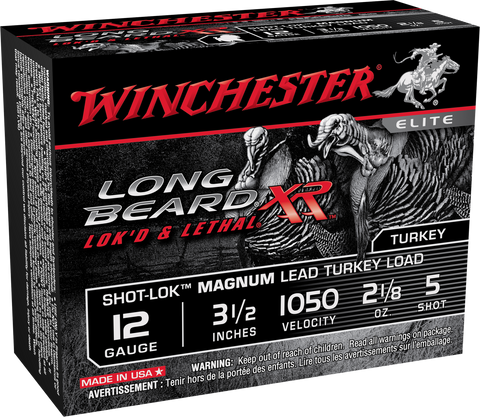 "Winchester Ammo STLB12LM5 Long Beard XR 12 Gauge 3.5"" 2-1/8 oz 5 Shot 10 Bx/ 10 Cs"