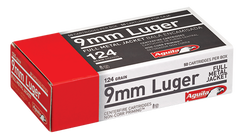 Aguila 1E092110 9mm Luger 124 GR Full Metal Jacket 50 Bx/ 20 Cs