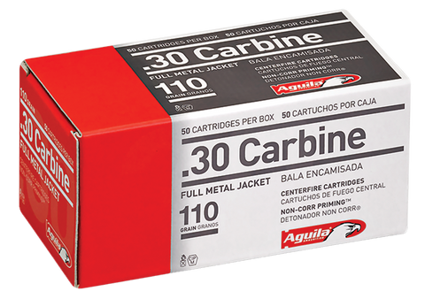 Aguila 1E302110 30 Carbine Full Metal Jacket 110 GR 50Bx/20Cs