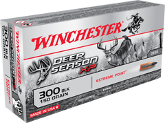 Winchester Ammo X300BLKDS Deer Season XP 300 AAC Blackout/Whisper (7.62X35mm) 150 GR Extreme Point 20 Bx/ 10 Cs