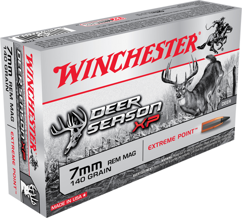 Winchester Ammo X7DS Deer Season XP 7mm Remington Magnum 140 GR Extreme Point 20 Bx/ 10 Cs