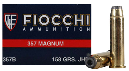 Fiocchi 357GCMJ Shooting Dynamics 357 Magnum 158 GR Copper Metal Jacket Flat Point 50 Bx/ 20 Cs
