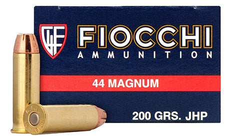 Fiocchi 44B500 Shooting Dynamics 44 Remington Magnum 200 GR Semi-Jacketed Hollow Point 50 Bx/ 10 Cs