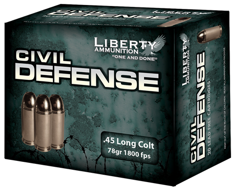 Liberty LACD45031 Civil Defense 45 LC 78 GR LF Fragmenting HP 20Bx