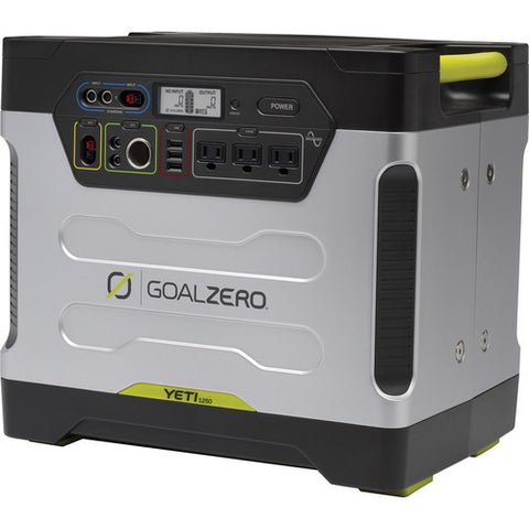 EOL Goal Zero Yeti 1250 Solar Generator with Roll Cart