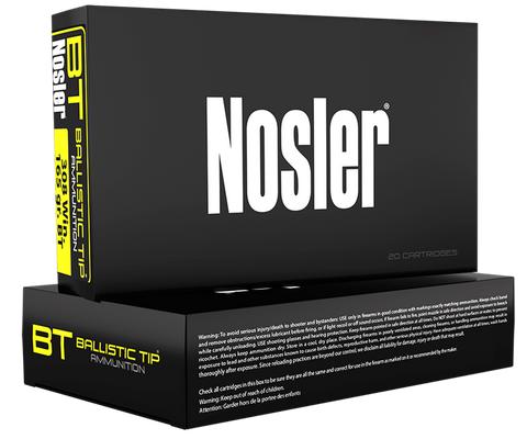 Nosler 40060 Trophy 7mm-08 Remington 120 GR Ballistic Tip 20 Bx/ 10 Cs