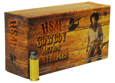 HSM 45C1N Cowboy Action 45 Colt (LC) 250 GR Round Nose Flat Point 50 Bx/10 Cs
