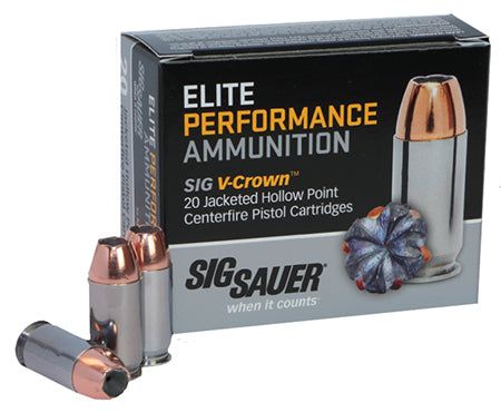 Sig Sauer E38SP1-20 V-Crown JHP 38+P Special 125GR JHP 20Box/10Case