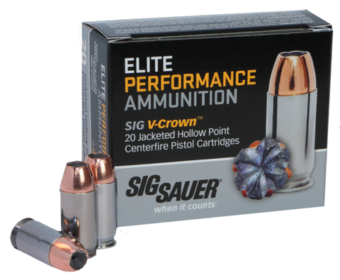 Sig Sauer E44MA1-20 V-Crown 44 Rem Mag 240GR JHP 20Box/10Case