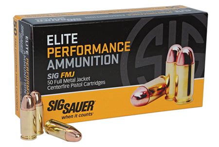 Sig Sauer E38SUB-50 Full Metal Jacket 38 Super +P 125 GR FMJ 50Box/20Case