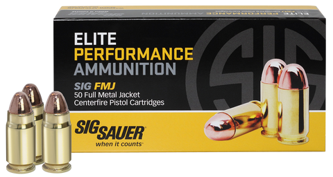Sig Sauer E357MB-50 Full Metal Jacket 357 Magnum 125 GR FMJ 50Box/20Case