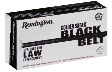 Remington Ammunition GSN40SWCA Golden Saber Black Belt 9mm +P 124 GR Jacketed Hollow Point 20 Bx/ 25 Cs