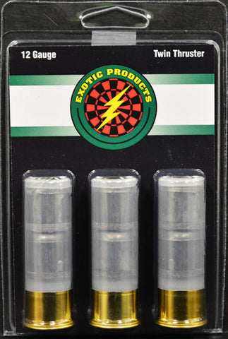 "Exotic Twin Thruster 12 Ga 2 3/4"" 2-1 oz Slugs 3-Pack"