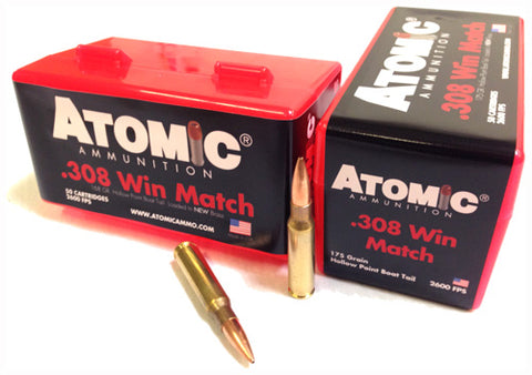 Atomic Ammo .308 Win. Match 175gr. Sierra TMK 50-Pack