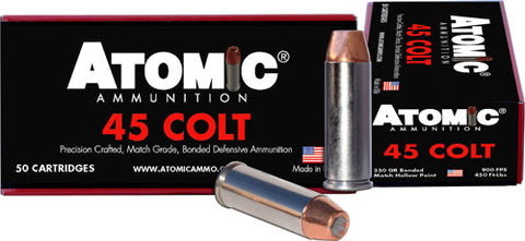Atomic Ammo .45Lc 250Gr. Bonded Match Hp 50-Pack 00444