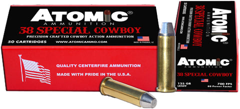 Atomic Ammo Cowboy .38Spl 125Gr. Lead Rnfp 50-Pack A00451
