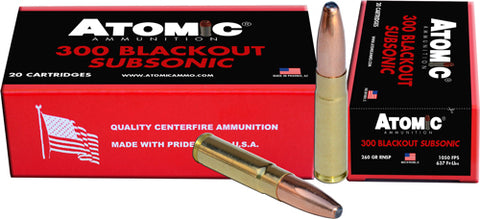 Atomic Ammo .300Aac Blackout Subsonic 260Gr. Rnsp 20-Pack 00478