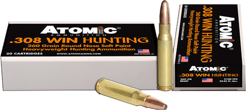 Atomic Ammo .308 Win 260Gr. Roundnose Softpoint 20-Pack 00481