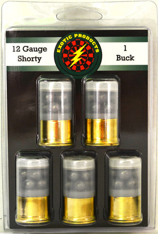 "Exotic Shorty 1 Buck 12 Ga 1 3/4"" 8-#1 Buck 1175 fps 5-Pack"