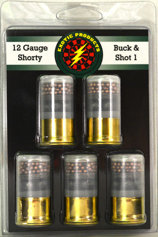 "Exotic Shorty #1 Buck/Shot 12G 1 3/4"" 4-#1Bk/7.5 1250 fps 5Pack"