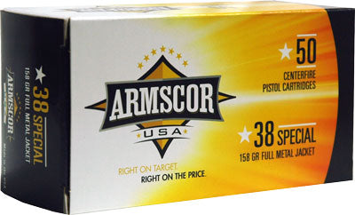 Armscor Ammo .38 Special 158Gr FMJ-RN50-Pack Made In Usa