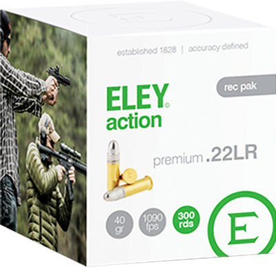 Eley Action 22LR 300Rd Rec Pack 40Gr Round Nose Lead