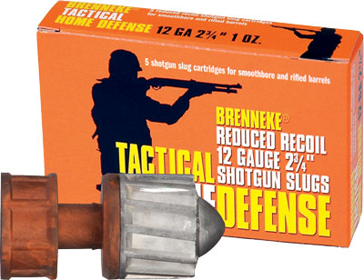 "Brenneke Usa 12Ga 2.75"" Low Recoil 1oz. Slug 5Pack."