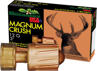 "Brenneke Usa 12Ga 3"" Magnum Crush 1-1/2oz. Slug 5Pack."