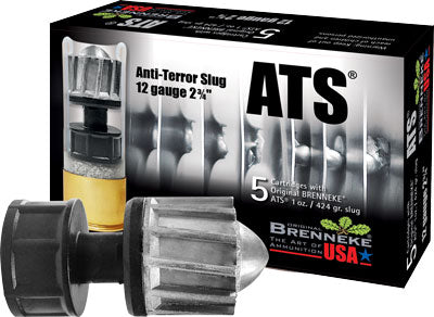"Brenneke Usa 12Ga 2.75"" Ats 1oz. Slug 5Pack."