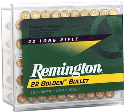 Remington Ammo .22 Long Rifle 100-Pack High Velocity 40gr. Plated LRN