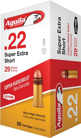 Aguila Ammo .22 Short 1095Fps.