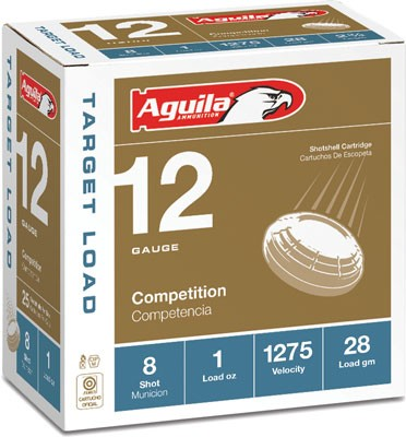 Aguila Shotshell 12Ga. 1Oz. #8 25-Pack 1275Fps 1Chb12328