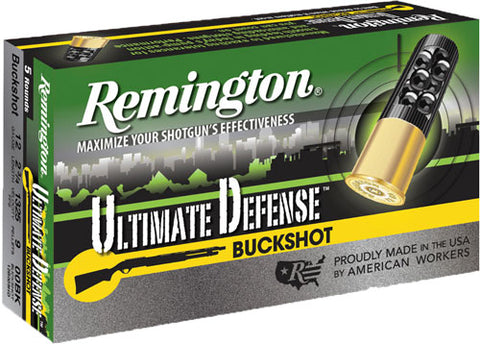 "Rem Ammo Ultimate Home Defense 12Ga. 2.75"" 00Bk 5-Pack 20713"