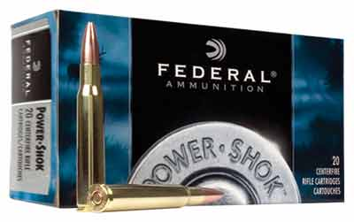 Fed Ammo Power-Shok 22-250 Rem 55Gr. Sp 20-Pack 22250A