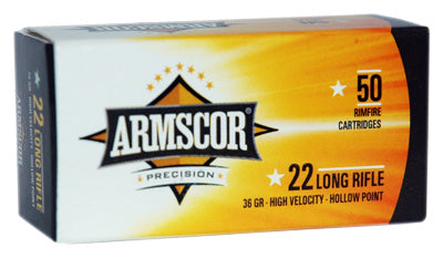 Armscor Ammo .22LR High-Vel 36gr. Lead-HP 50-Pack