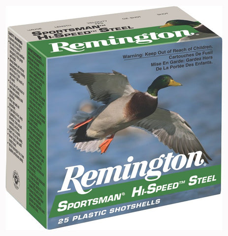 "Remington Ammo Hi-Speed Steel 25-Pack 10Ga. 3.5"" 1-3/8oz. #2"