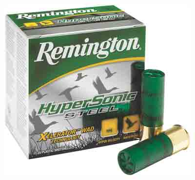 "Remington Ammo Hypersonic Steel 25Pack 20Ga 3"" 1600fps. 7/8oz #4"